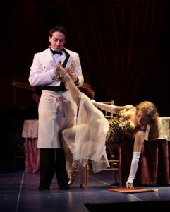 Jason Babinsky and Ashley Arcement in the Huntington's production of 'She Loves Me.'