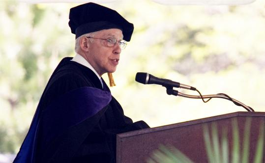 US Attorney General Michael B. Mukasey spoke to Boston College Law School graduates.