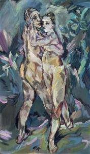 An Austrian woman says she is the rightful owner of Oskar Kokoschka's painting 'Two Nudes (Lovers).'