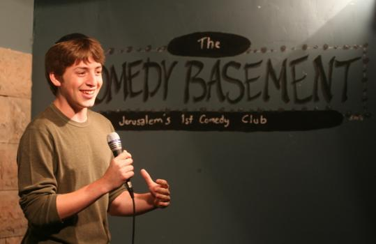 While in Israel, Alex Edelman performed often at the Off the Wall Comedy Basement, Jerusalem's first comedy club.