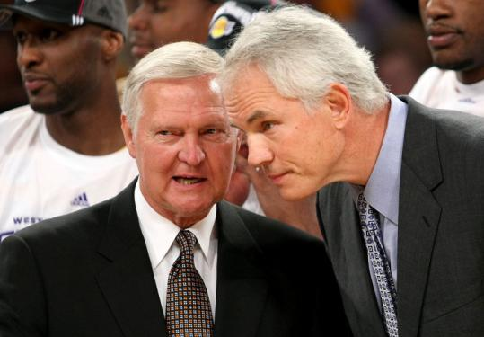 Mitch Kupchak (right) learned how to be a successful general manager from one of the all-time greats, Jerry West.