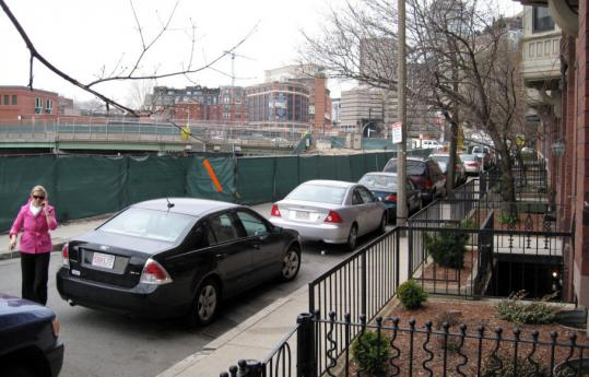 Residents of Cortes Street say they have lost trees, parking, and use of a sidewalk as a result of the stalled project in the Back Bay and South End.