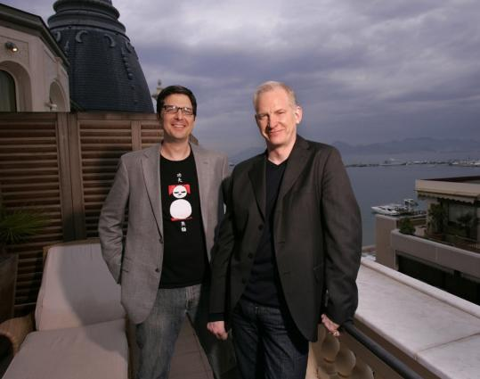 'We made it for us!' John Stevenson (right, with Mark Osborne) said of 'Kung Fu Panda.'