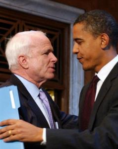 The policy differences between John McCain and Barack Obama are stark compared with the differences between Obama and Hillary Clinton.