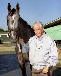 Jimmy Croll and the 1994 Horse of the Year Holy Bull.