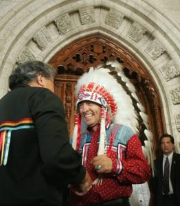 'Finally, we heard Canada say it is sorry,' said Phil Fontaine, the national chief of the Assembly of First Nations.