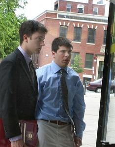 The case against David Siemiesz (left) and David Cunha was postponed until after Wentworth completes its investigation.
