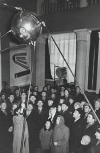 Archival images in 'Sputnik Mania' recall the late 1950s as they were reported on radio, television, and in newspapers.