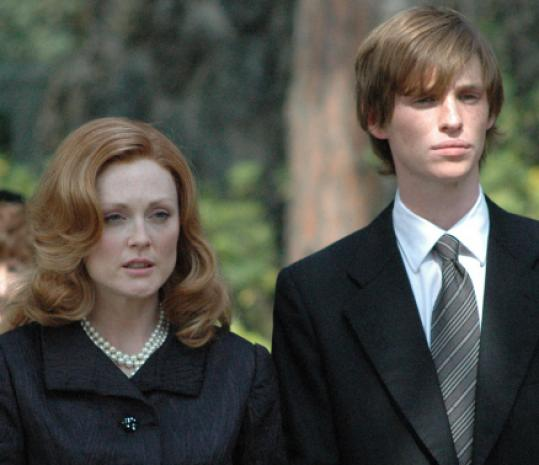 Julianne Moore and Eddie Redmayne in 'Savage Grace.'