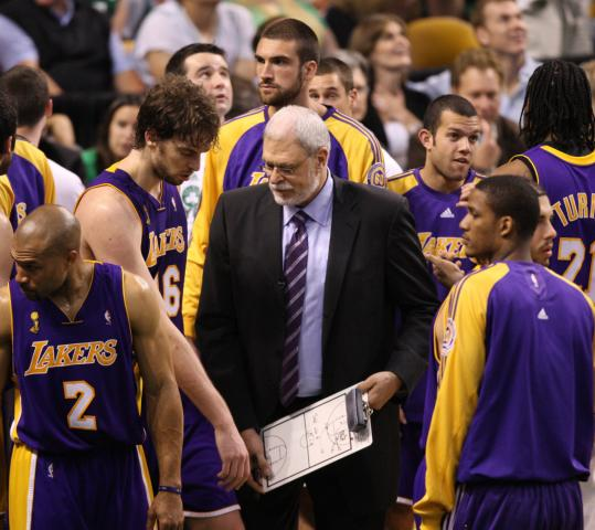Coach Phil Jackson and his Lakers were left dumbfounded by what went down in Game 6.