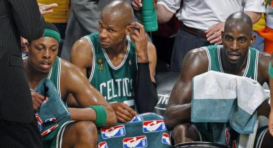 Paul Pierce, Ray Allen, and Kevin Garnett combined forces to help bring title No. 17 to Boston.