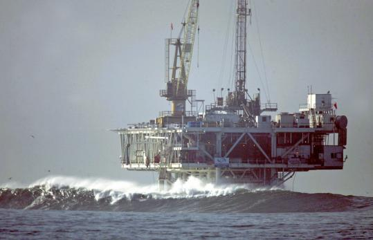 Increased American production from offshore drilling - such as at this oil platform pictured off California in 2005 - would not necessarily mean lower prices for Americans because oil is a global commodity whose price is set by global supply and demand.