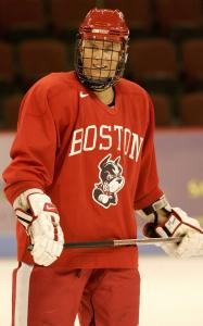 Colin Wilson finished his freshman season at BU with 35 points, earning conference Rookie of the Year honors.