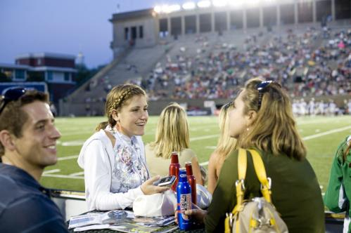 Catey Wilman of Hanover and Sara Collins of Brighton chatted in the Bud Light Barracks. Collins, an athletic trainer, said she was pretty impressed with the quality of the game. More Hot Shots More info on Harvard Stadium SUBMIT Your nightlife photos! TALK What scene should we visit next?