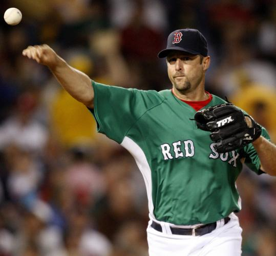 Tim Wakefield threw 114 pitches in seven innings, allowing 4 runs, 7 hits, and 3 walks. He took the loss, falling to 4-