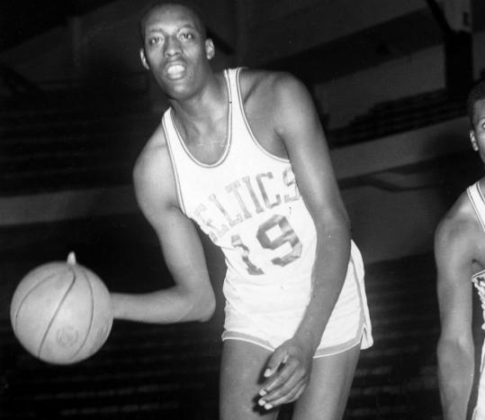 Bennie Swain, shown as a rookie for the Celtics in 1958, helped Boston win a championship during his only NBA season. A knee injury the following summer curtailed his playing career.