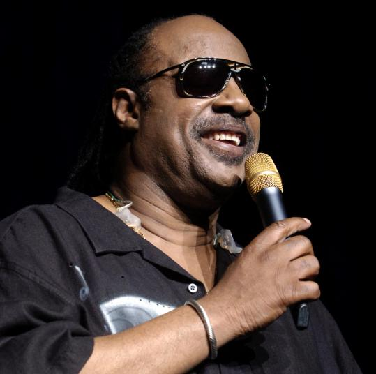 Stevie Wonder performing at the Comcast Center on Sunday.