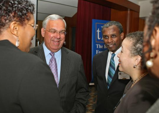 Mayor Thomas M. Menino with George Russell Jr., president of State Street Foundation, and others at the Black Philanthropy 'Bu