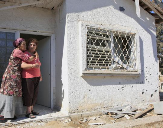 A house in the southern Israeli town of Sderot was struck by a rocket fired yesterday by Palestinian militants. Islamic Jihad, a group backed by Syria and Iran, claimed responsibility.