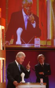 Bill Clinton spoke yesterday in Leipzig, Germany, after receiving a charity award from rocker Bob Geldof. It is not known what kind of campaigning Barack Obama might ask Clinton to do.