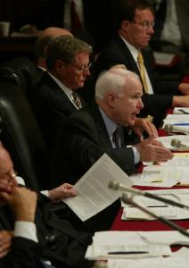 In 2003, Senator John McCain addressed a Senate Armed Services Committee hearing on the proposed lease of 100 Boeing aircraft for use by the Air Force.