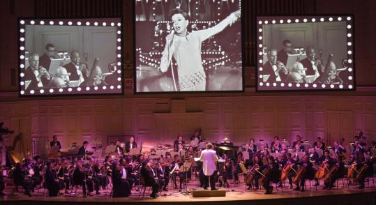 Video and audio of Judy Garland was backed by Boston Pops orchestration during 'Judy Garland Live in Concert.'