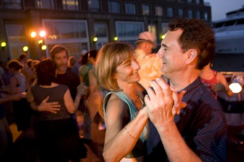 Camille Donato of Wakefield and Mike Durant of Belmont danced to music by the White Heat Orchestra. See more pics from this event More info on the Boston Harbor Hotel SUBMIT Your nightlife photos! TALK What scene should we visit next?