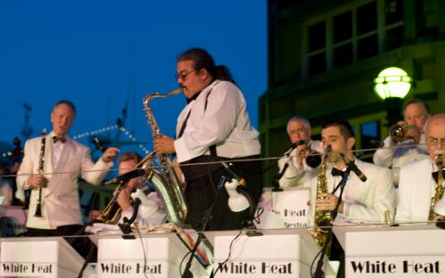 Dramamine, please: The White Heat Orchestra actually bobbed and floated on the water as they played for the Summer Swing crowd. See more pics from this event More info on the Boston Harbor Hotel SUBMIT Your nightlife photos! TALK What scene should we visit next?