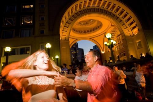 Christopher Desouza of South Boston and Kelly Buckowski of the South End danced the night away. 'Summer in Boston is to be outdoors,' Desouza said. So true. See more pics from this event More info on the Boston Harbor Hotel SUBMIT Your nightlife photos! TALK What scene should we visit next?