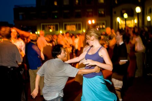 Eric Su of Arlington and Katie Biszko of Tiverton, R.I., showed off their moves during Summer Swing. See more pics from this event More info on the Boston Harbor Hotel SUBMIT Your nightlife photos! TALK What scene should we visit next?