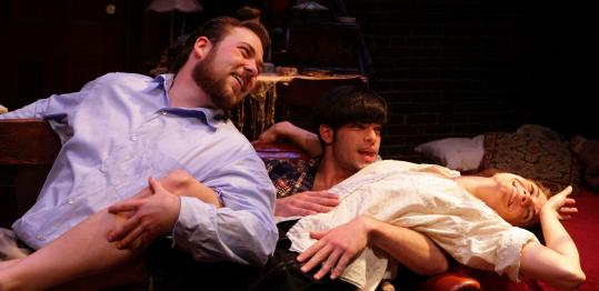 From left: Risher Reddick, Daniel Berger-Jones, and Georgia Lyman in 'Look Back in Anger,' presented by the Orfeo Group.
