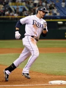 For the 16th time this season, standout Rays rookie Evan Longoria got to show off his home run trot.