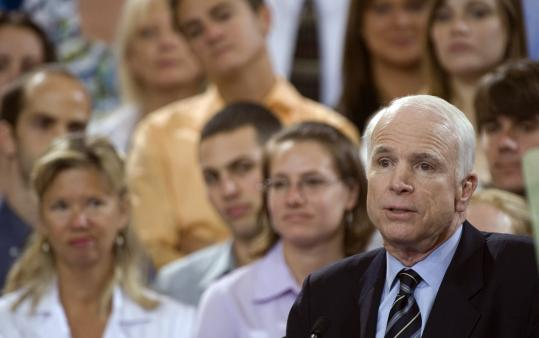 John McCain praised local governments in Colombia and Mexico for efforts against drug trafficking and narco-terrorism.