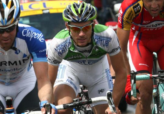 Romain Feillu was in the middle of the action during Stage 3, finishing third and grabbing the overall lead.