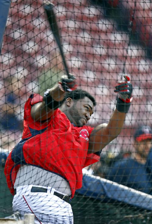 Injured Red Sox DH David Ortiz took live batting practice before the game, his first such attempt since he went on the disabled list with an injured left wrist.