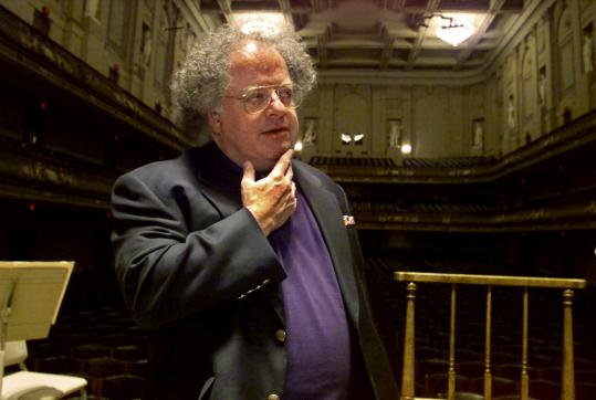 James Levine, directing 'Les Troyens' Sunday, shocked BSO officials with the news.