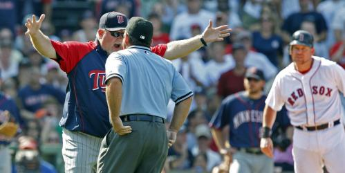 Gardenhire screamed at umpire Charlie Reliford, who immediately threw the Minnesota skipper out of the game.