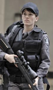 Amy Jo Johnson stars as a police sniper in the new drama 'Flashpoint.'