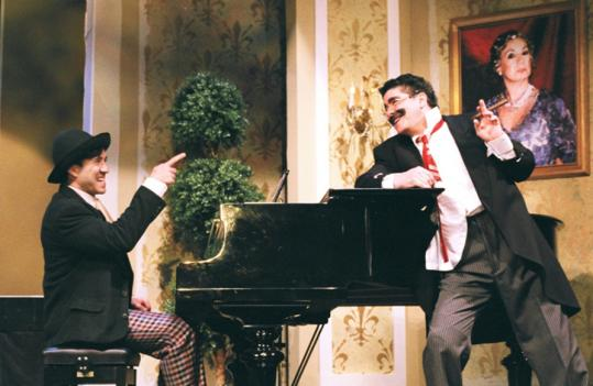 Jonathan Brody (left) and Michael McGrath as Chico and Groucho in Act 2.