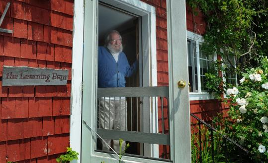 Seymour Papert constructed a mobile as part of his neurotherapy at his house in Blue Hill, Maine. The former MIT mathematics professor suffered massive brain trauma when he was struck by a motorbike.