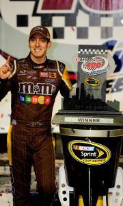 Victory was once again sweet for the red-hot Kyle Busch, driver of the No. 18 M&Ms Toyota.
