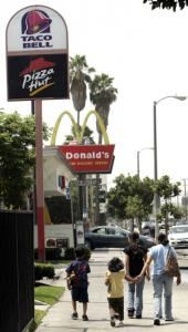 There are more fast-food restaurant chains in South Los Angeles than in other sections of the city.