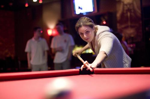 Jazz, funk, and ... pool? Chelsea Bain of Somerville took aim at the 8 ball while listening to the sounds of Afro Juice. See more pics from this event More info on Church SUBMIT Your nightlife photos! TALK What scene should we visit next?
