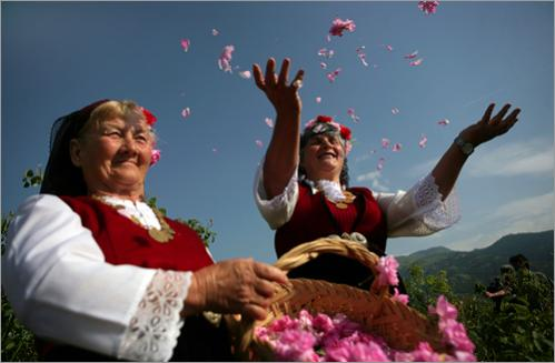 Rose Valley residents celebrate the rose harvest near the town of Kazanluk.