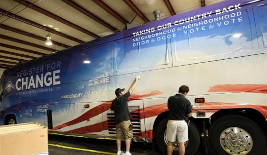 The biodiesel bus will hit states in every part of the country before ending at the Democratic convention next month.