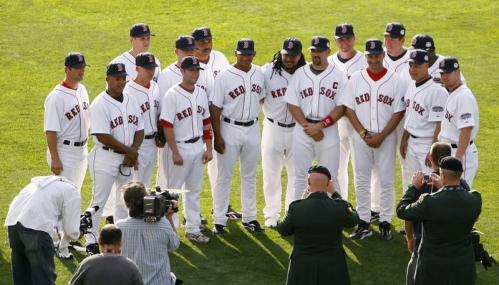 Sure, they were on enemy territory, but the Red Sox seemed right at home on the outfield grass at Yankee Stadium on Tuesday. Coaches and players -- sixteen in total -- posed for a group photo before the 79th All-Star Game. Click through our gallery to see all the Sox-related scenes from the Bronx.