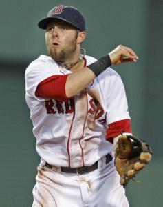 Trusty at second base, Dustin Pedroia was a demon at the plate before the All-Star break.