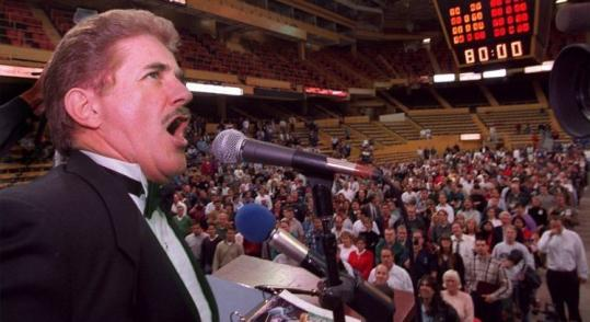 Rene Rancourt's live national anthem, fist pump and all, vs. Josh Groban's lip-synched 'God Bless America': no contest.
