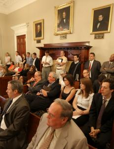A State House hearing room was packed yesterday as a joint House-Senate committee took testimony on a Patrick administration plan to shore up the Massachusetts Turnpike Authority.