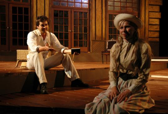 Robert Serrell and Hannah Wilson in 'The Seagull' at the Publick Theatre.